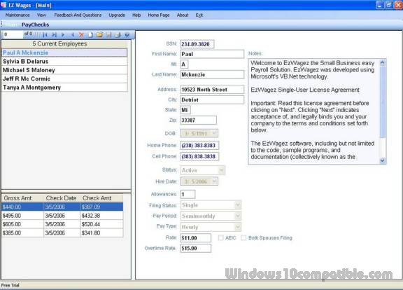 EzWagez Payroll System 3.0.0.0 Free download